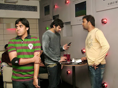 Prabhas chating with Friends