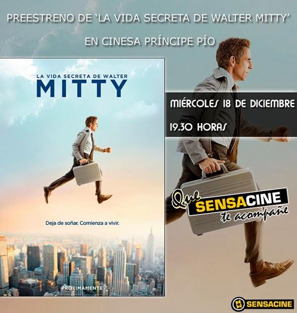 """Ganadores 5 entradas dobles para el  Preestreno """"La Vida Secreta de Walter Mitty"""""""