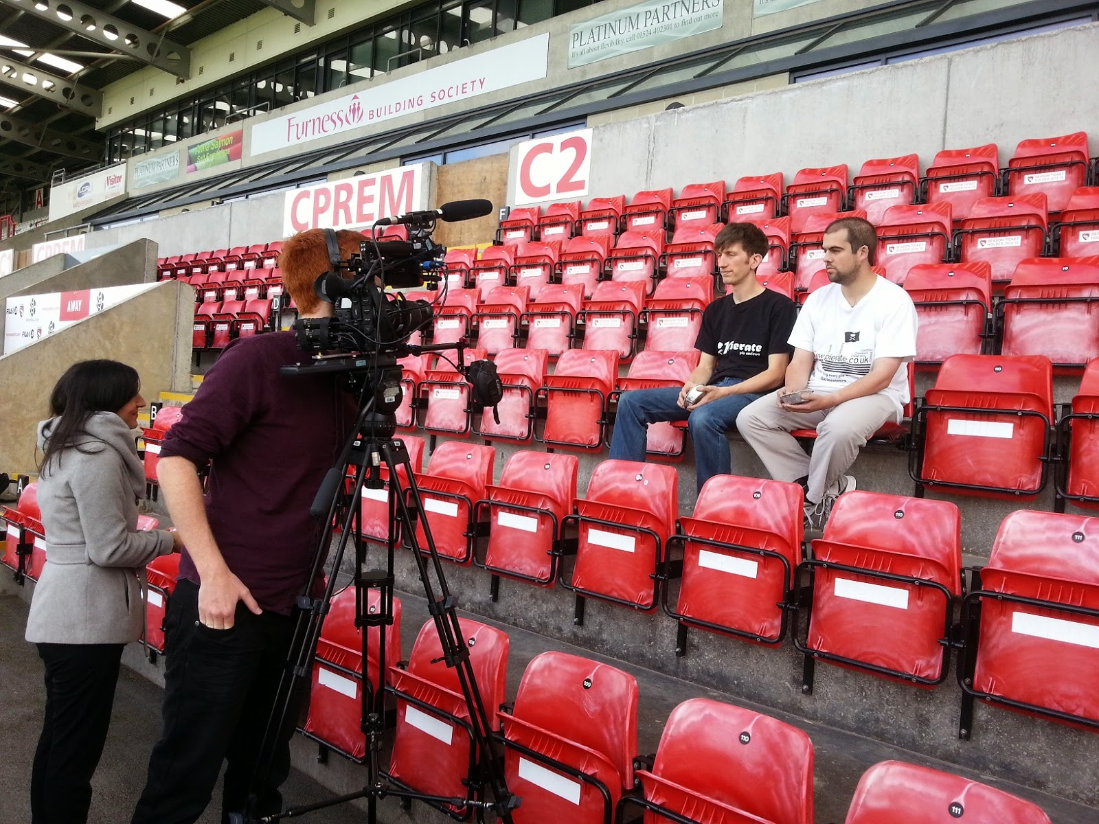 Pierateers filming with BBC Sport
