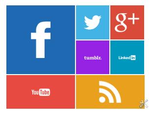 Tampilan sosial ico metro ui yang sudah umum dan saya beri efek animasi berputar pada widget di blog saya ini.