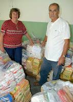 Secretária de Desenvolvimento Social, Graça Granito, recebe o representante da Obra Social da Paróquia de Santo Antônio, Moisés Carreiro