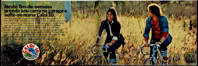 propaganda bicicleta Caloi 10 - 1976.  brazilian advertising cars in the 70. os anos 70. história da década de 70; Brazil in the 70s; propaganda carros anos 70; Oswaldo Hernandez;