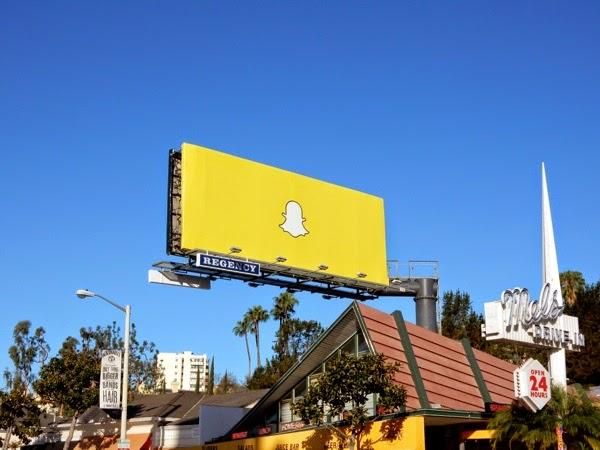 Snapchat logo billboard Sunset Strip
