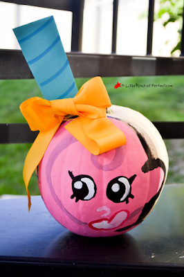 Cute Shopkins No Carve Pumpkin Ideas For Halloween Apple Blossom
