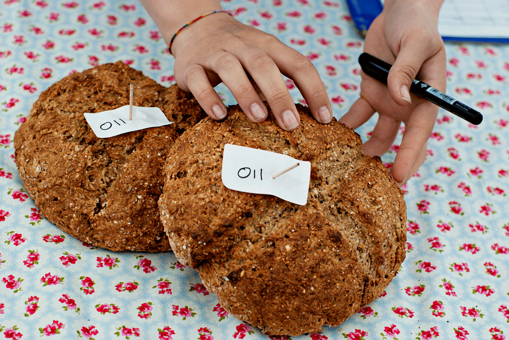 Close up of Elizabeth McNally's Irish brown bread; Irish food