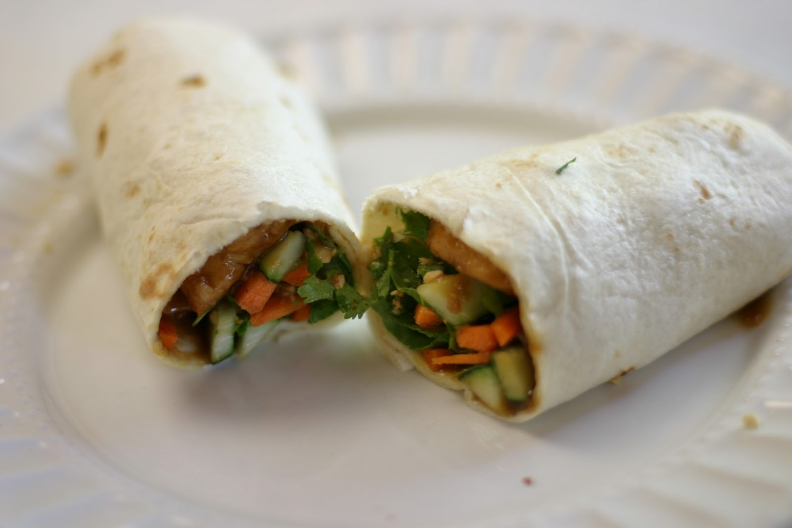 The Joy's of Kitchen Creations: Thai Chicken Wraps