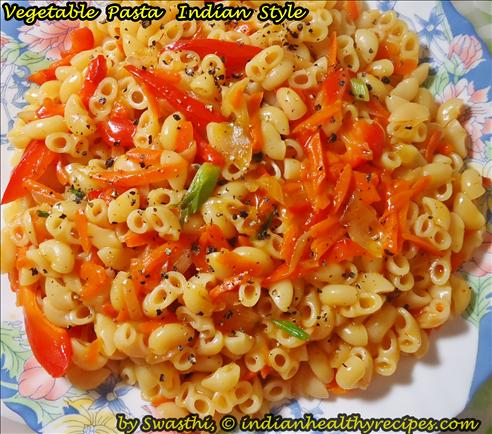 Vegetable pasta recipe | indian style