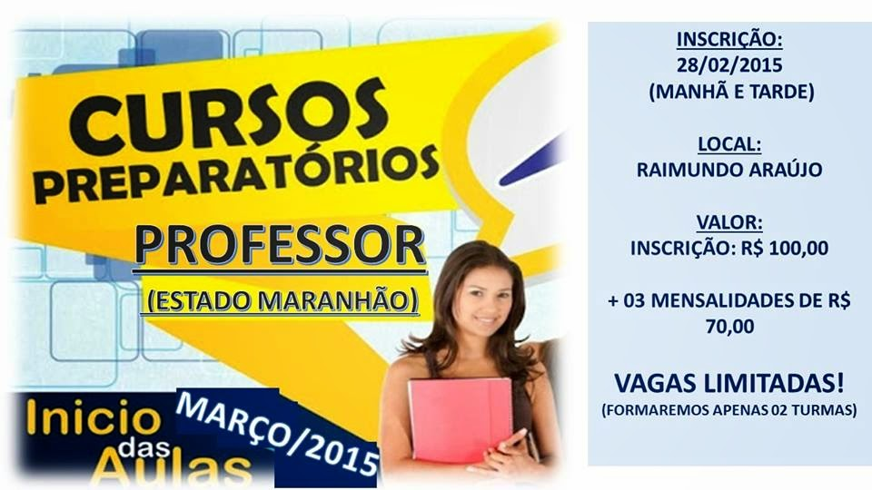 Curso preparatório para concurso do Estado do MA