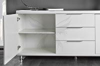 biela dizajnova skrinka, moderny luxusny nabytok