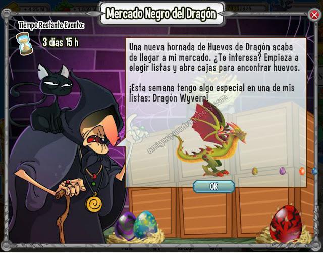 imagen del dragon wyvern en el mercado negro del dragon