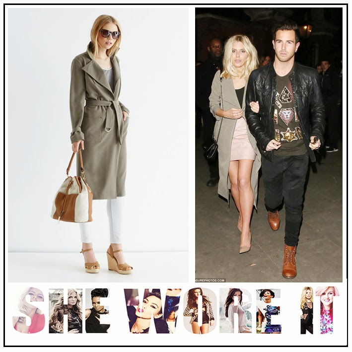 The Saturday, Mollie King,  Loved by Mollie, Oasis, Light Khaki Green, Classic, Utility, Trench Style, Duster Jacket,  Belt Detail