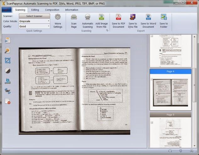 برنامج ScanPapyrus لتحويل الملفات الممسوحة ضوئياً الي صيغ PDF, DOCX بشكل تلقائي