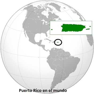 Localizacion de Puerto Rico en el Mundo