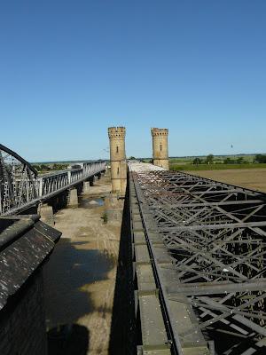 Widok z wieży mostu w Tczewie