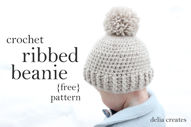Free Crochet Pattern For Ladies Beanie Hat : Crocheted Ribbed Beanie ? Free Pattern