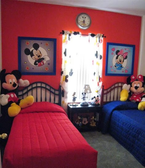 Dormitorios para ni os tema mickey mouse dormitorios for Childrens bedroom ideas boy girl sharing