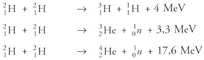 reaksi fusi yang terjadi pada bintang, matahari, serta pada atom hidrogen