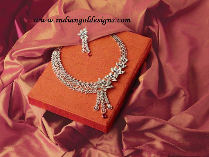 Tbz Jewelry Designs http://www.indiangoldesigns.com/2012/04/tbz-original-designer-diamond-necklace.html