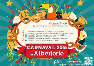 Carnavales 2016 en Alberjerte, Valle del Jerte