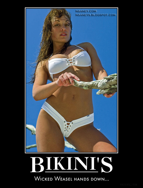 Nsaney's Motivational Posters: Wicked Weasel Bikini: Tia Tai White