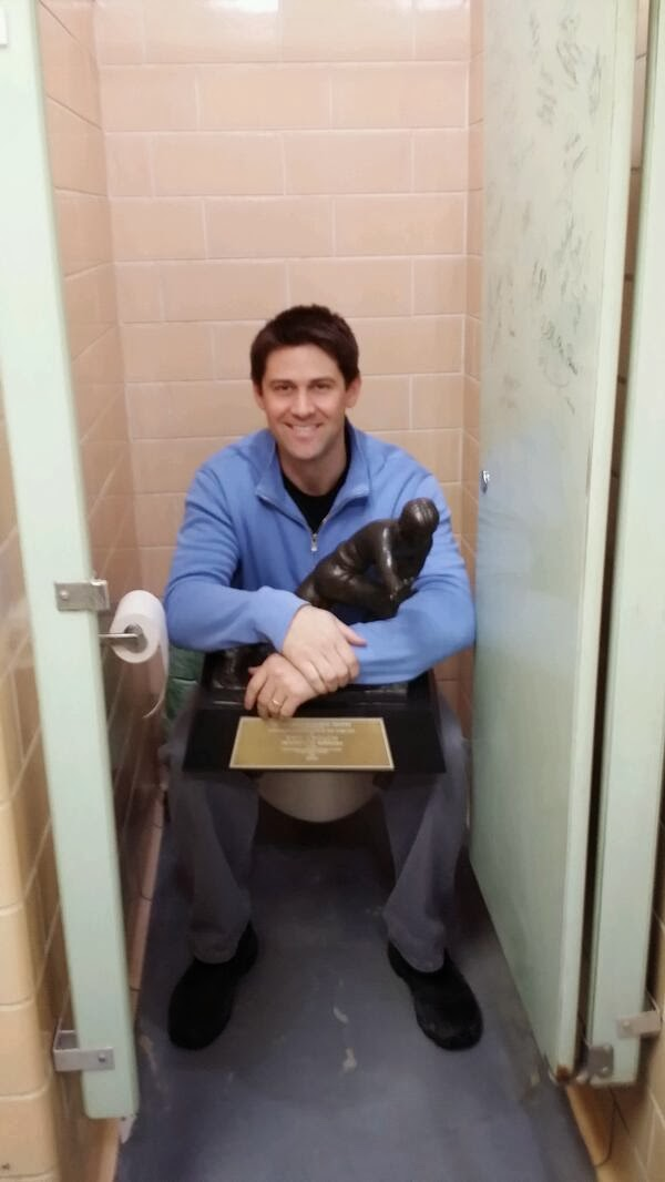 Eric Crouch, the Heisman Trophy, and a bathroom stall.
