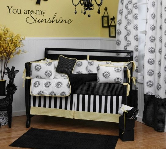 black and white baby bedding type pictures. Black Bedroom Furniture Sets. Home Design Ideas
