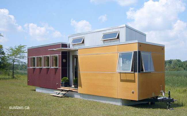 Arquitectura de casas mini casa producida en canad for Mini casas modernas