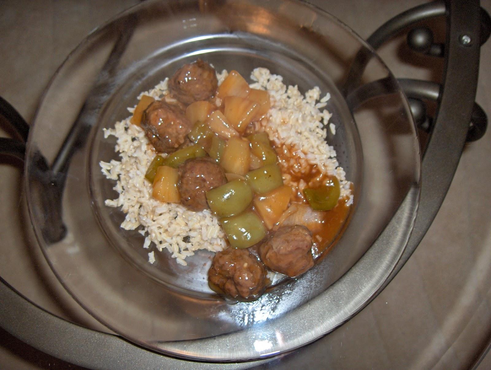 dinner at julie's: Polynesian Meatballs