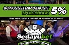 Sedayubet.com Agen Casino Online Promo Bonus 5% Tiap Bulan