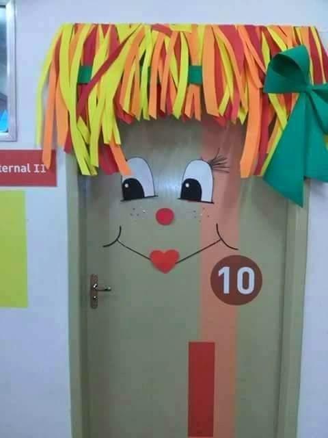 decoracao sala de leitura na escola:Pedagogia Brasil: PORTAS DECORADAS COM PERSONAGENS