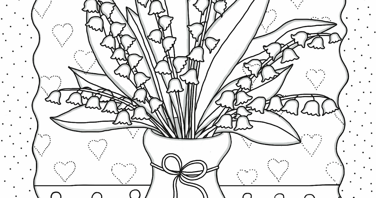 Cocolico creations mercredi coloriage 13 brins de - Muguet dessin ...