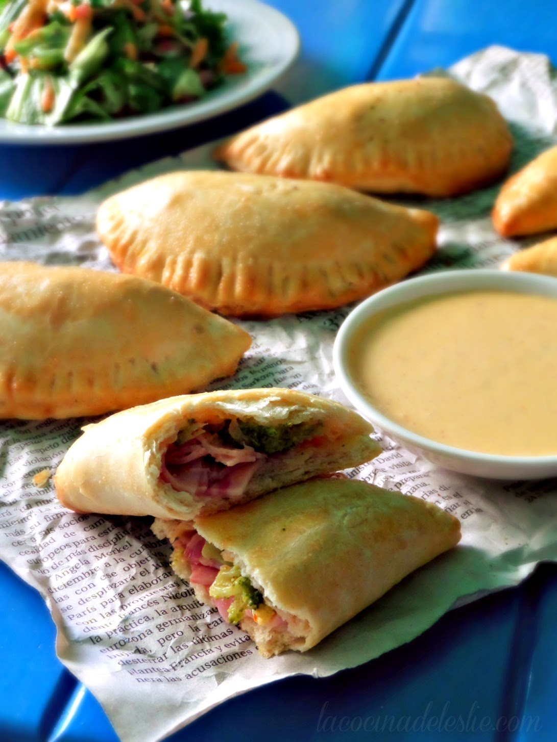Ham & Cheese Biscuit Empanadas - lacocinadeleslie.com
