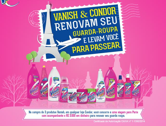 Participar promoção Vanish e Rede Condor 2014