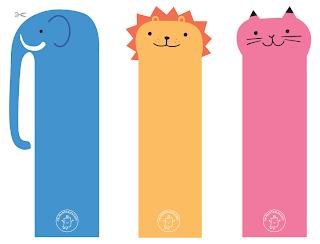 marcador de livro animais para imprimir
