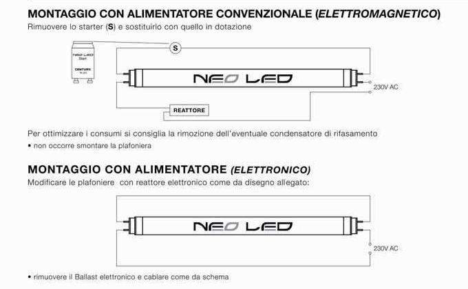 Schema Elettrico Per Neon A Led : Tocani schema di modifica plafoniere