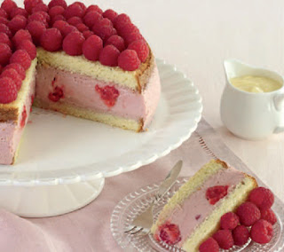 Bavarian Raspberry Gateau