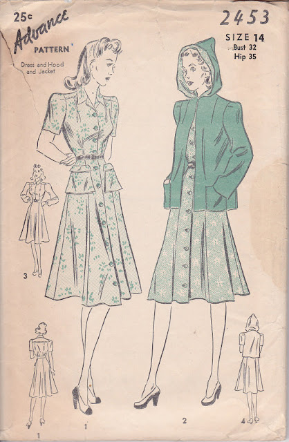1930s hooded jacket pattern
