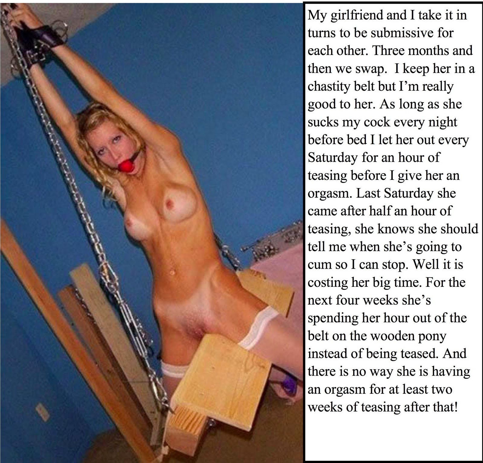 Understand Female chastity bondage caption you tell