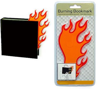 yanma görünümlü kitap ayracı