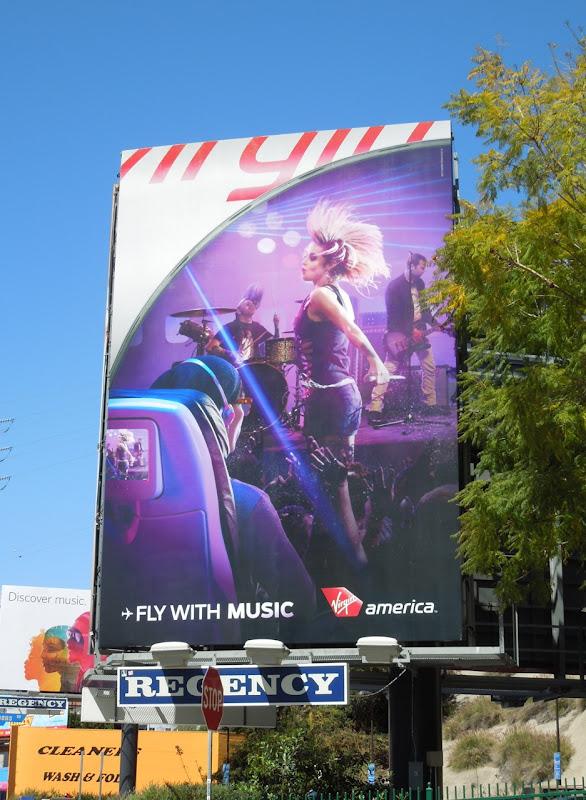 Virgin America music billboard