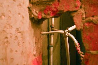 перегородка между ванной комнатой и туалетом до ремонта