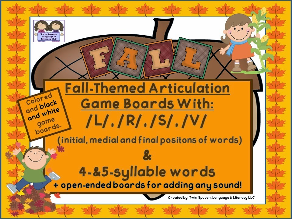 http://www.teacherspayteachers.com/Product/Fall-Themed-Game-boards-With-L-S-R-V-4-5-syllable-words-1401796