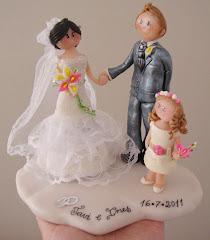 Muñecos personalizados tarta