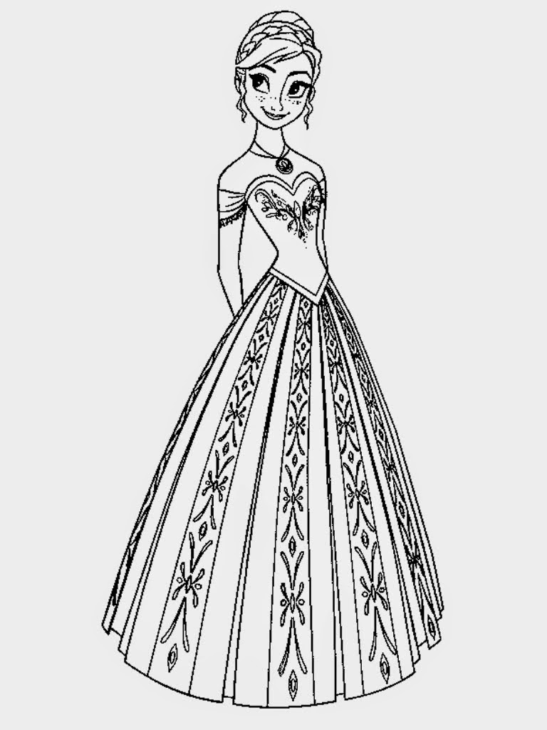 Princess Coloring Pages - elsa crown coloring page