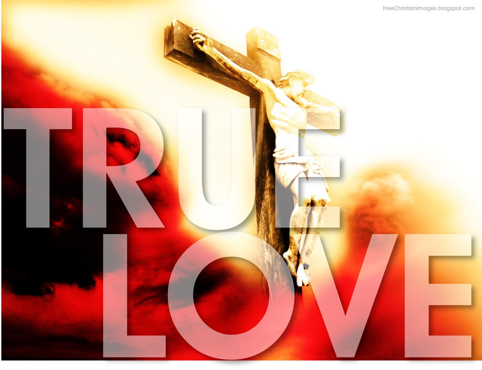 true love jesus christ crucified free christian images