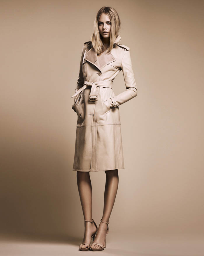 Cara Delevingne Models Burberry's 'Nude' Autumn 2011 Collection