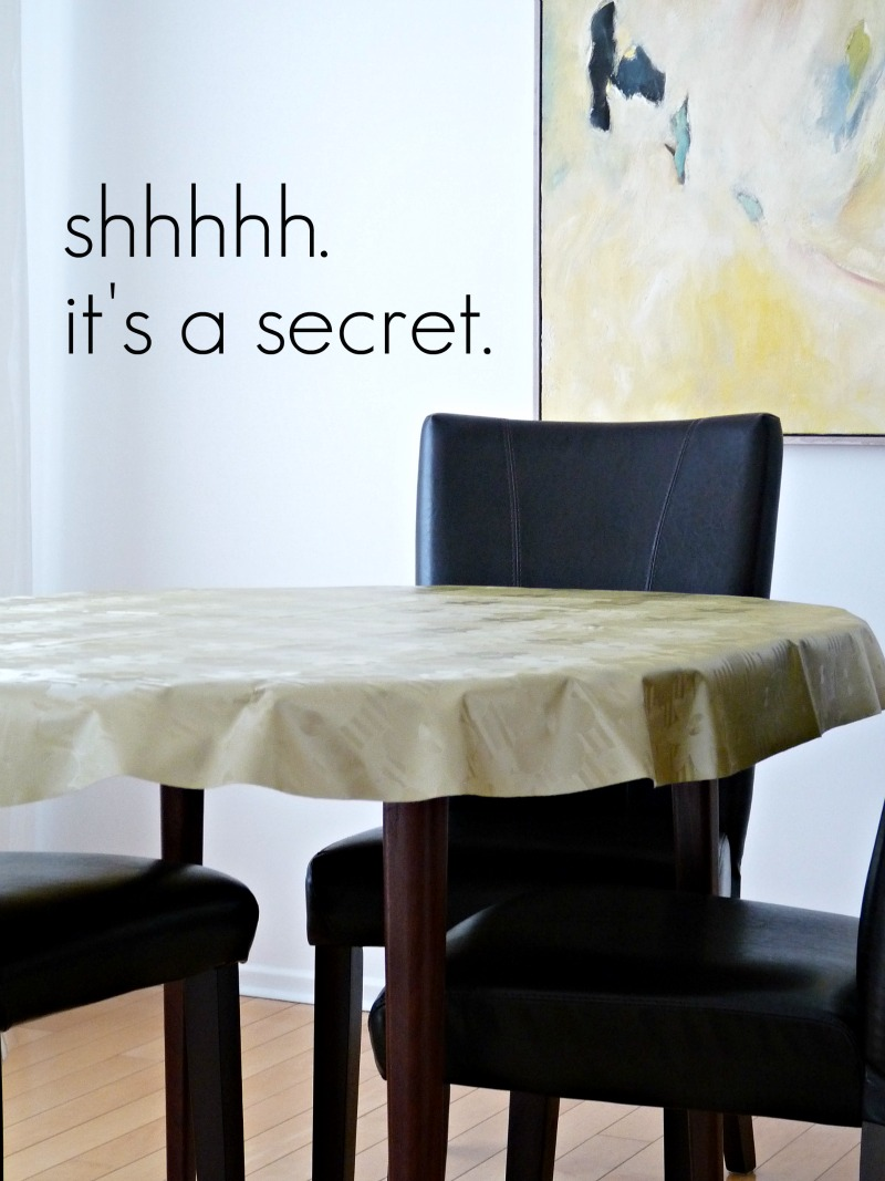 And Hereu0027s My Old Lady Secret: I Use A Vinyl Table Covering Underneath The  Fabric For Added Protection. Really Messy Folks (you Know Who You Are) Just  Get ...