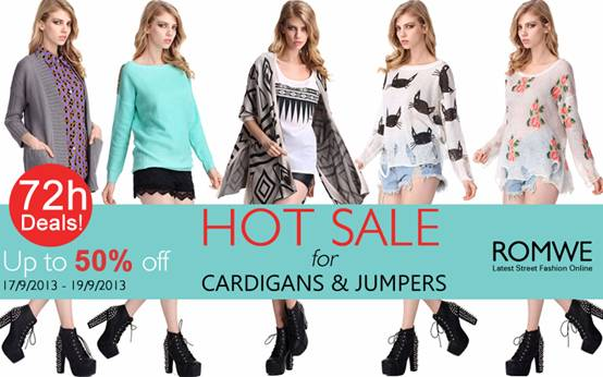 Romwe Hot Sale for Cardigans & Jumpers  Up to 50 %off