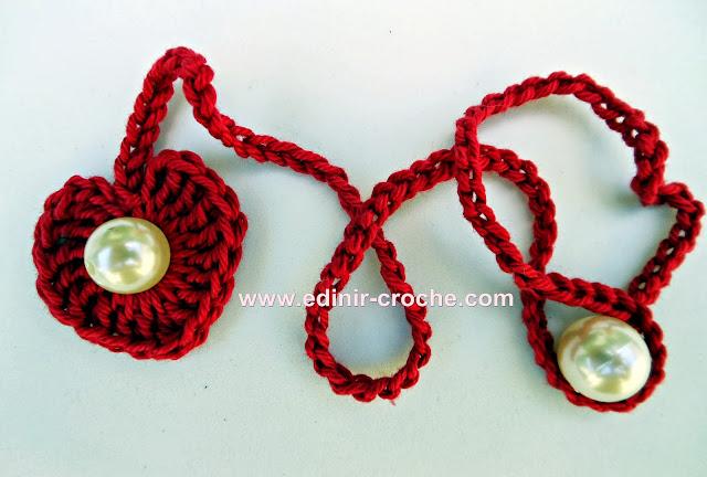 corações em croche da coleção aprendi e ensinei com edinir-croche dvd video-aulas blog loja frete gratis
