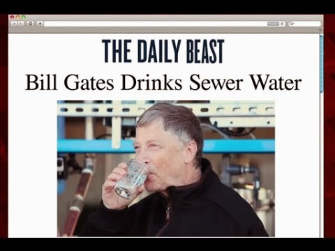 Bill Gates drinks recycled sewer water